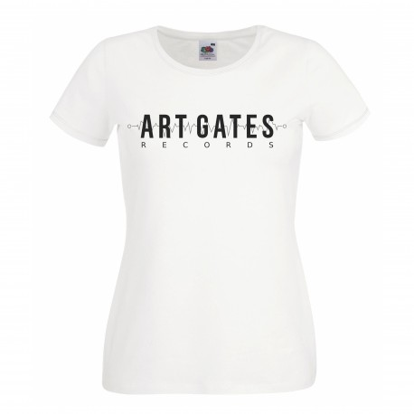 Art Gates Records girly t-shirt (Black)