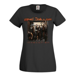 "Mind Driller girly t-shirt ""Involution"" edition (Black)"