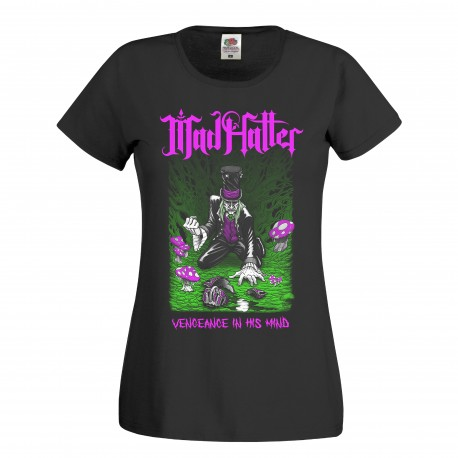 Mad Hatter girly t-shirt  (Black)