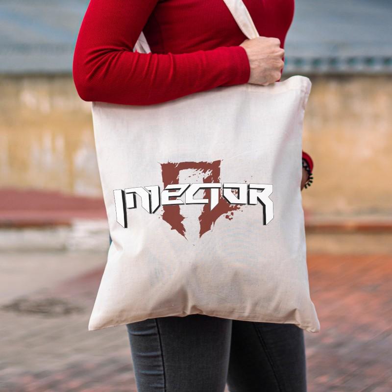 "Injector ""Logo"" White Tote Bag"