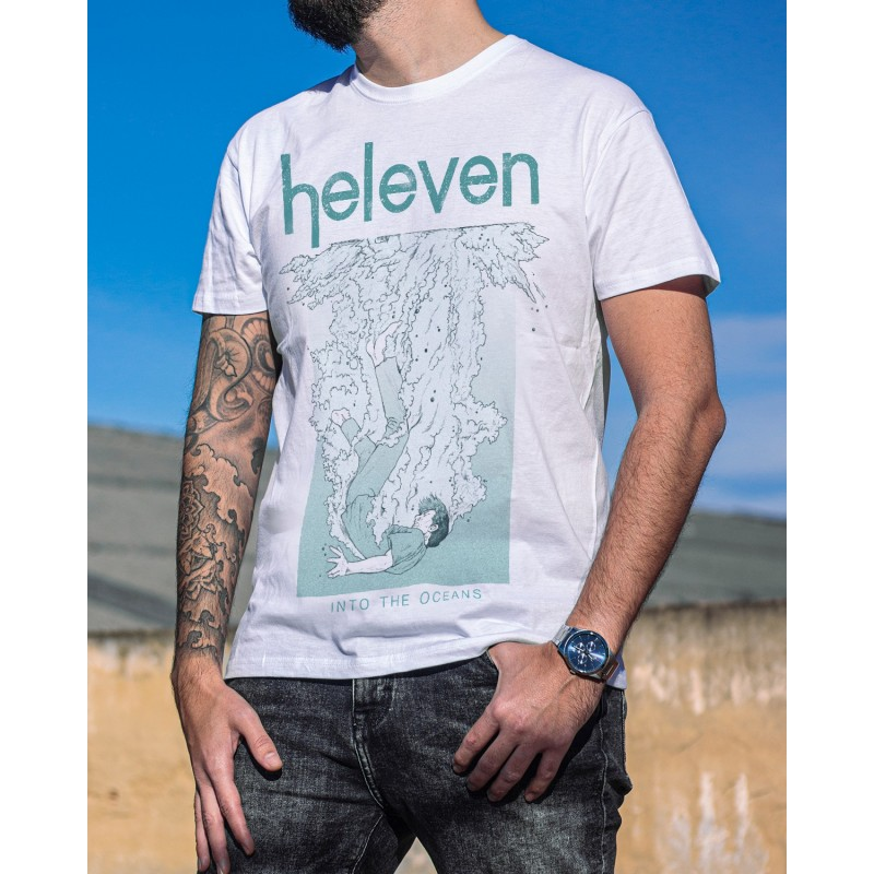 """Heleven """"Wave"""" White T-Shirt"""