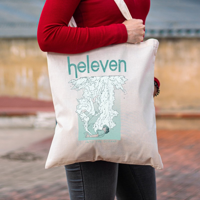 """Heleven """"Wave"""" White Tote Bag"""