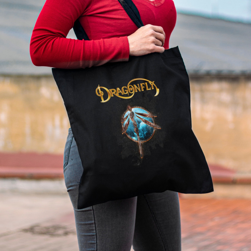 """Tote Bag Dragonfly """"Stone"""""""