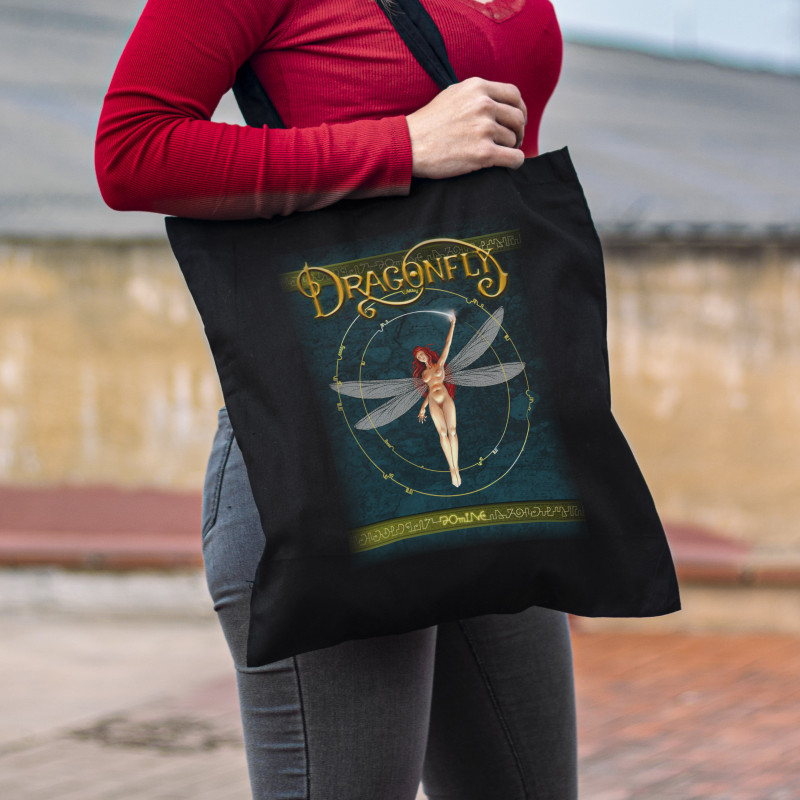 """Dragonfly """"Domine"""" Tote Bag"""