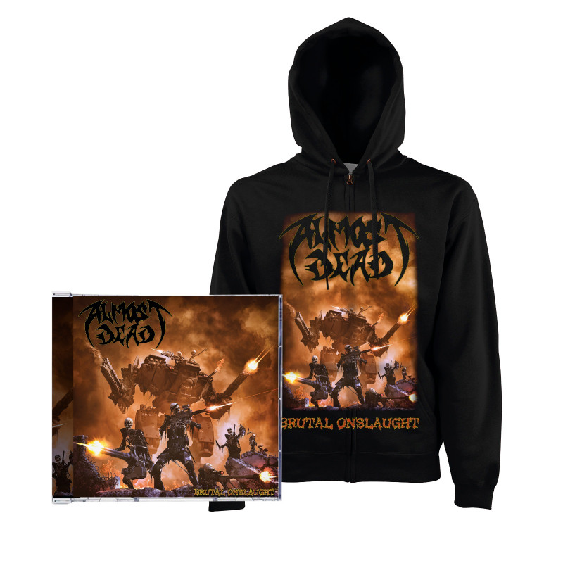 "Almost Dead - ""Brutal Onslaught"" Pack de Preventa Sudadera + CD"