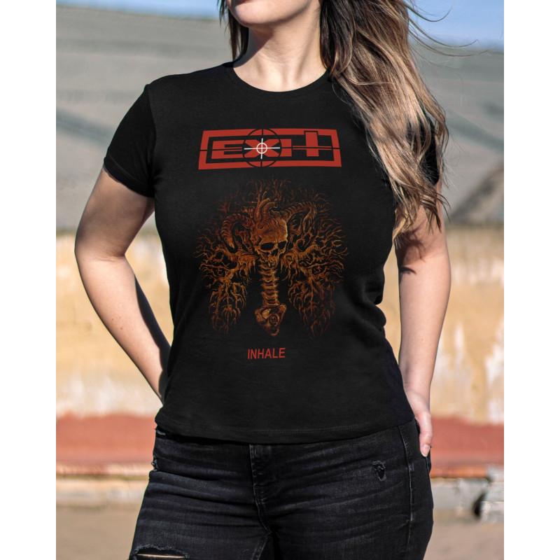 """Exit """"Inhale"""" Girlie T-Shirt"""