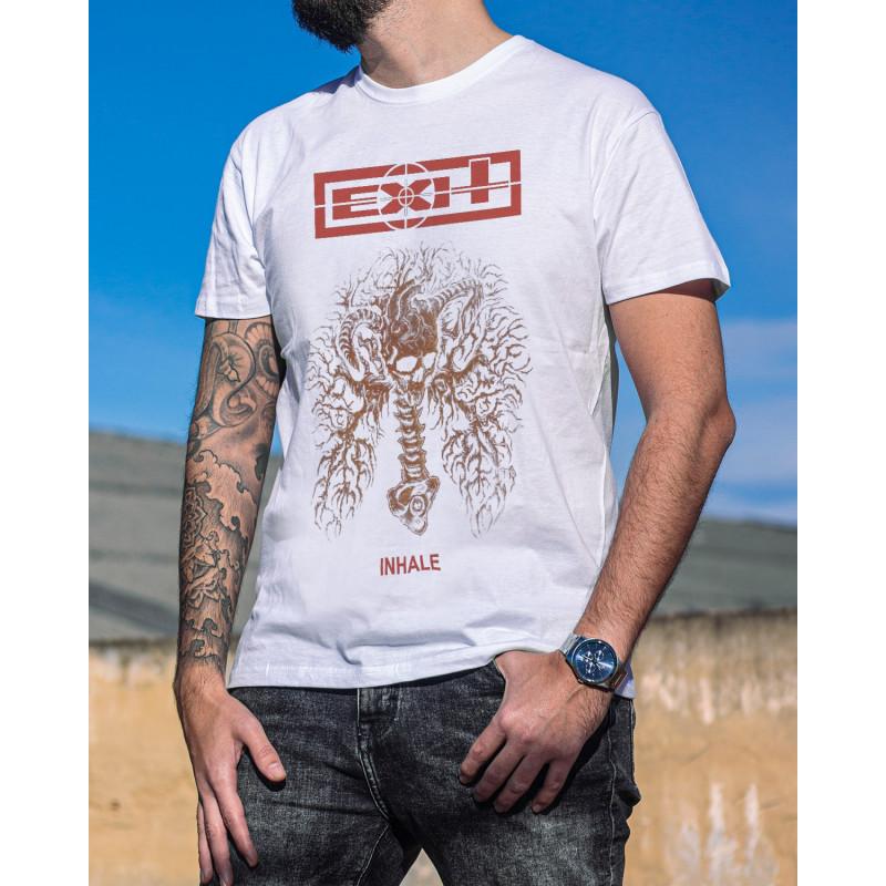 "Exit ""Inhale"" White T-Shirt"