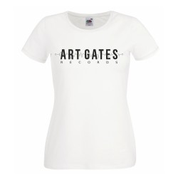 Art Gates Records girly t-shirt (White)